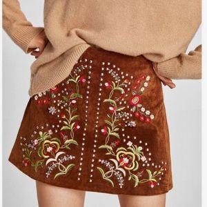Zara Embroidered/Embellished skirt